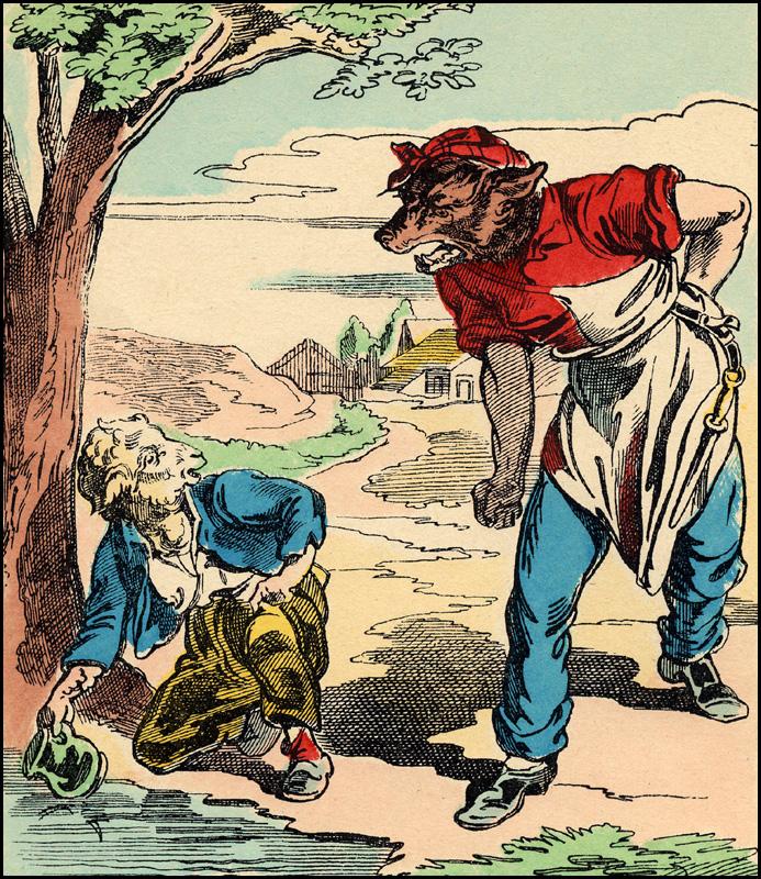Gouissem 06 10 14 - Dessin loup et agneau ...